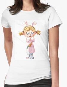 Bunnie girl Womens Fitted T-Shirt