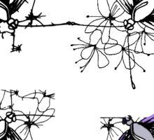 Butterfly sketch Sticker