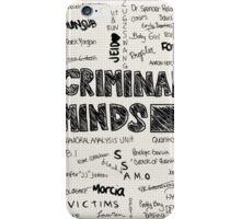 Criminal Minds Words iPhone Case/Skin