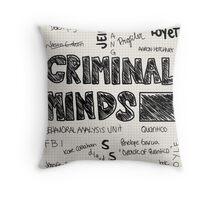 Criminal Minds Words Throw Pillow