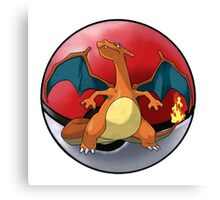 charizard pokeball - pokemon Canvas Print