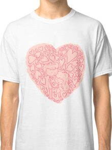 Hand drawn cute lovely couples Classic T-Shirt
