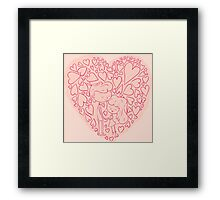 Hand drawn cute lovely couples Framed Print