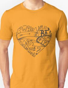 Hand drawn retro valentines day Unisex T-Shirt