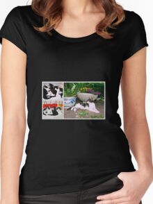 Hollywood with kittens Women's Fitted Scoop T-Shirt