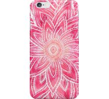 Bright hand drawn abstract pink watercolor flower iPhone Case/Skin