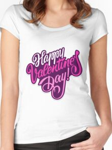 Happy valentine day background Women's Fitted Scoop T-Shirt