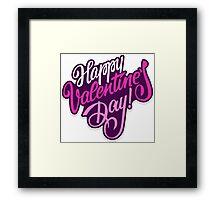 Happy valentine day background Framed Print