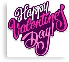 Happy valentine day background Canvas Print