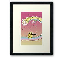 Romantic Jake and Lady Rainicorn Framed Print
