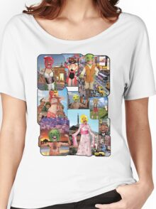 Big Heads Around the World Women's Relaxed Fit T-Shirt