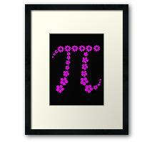 Floral Pi Framed Print