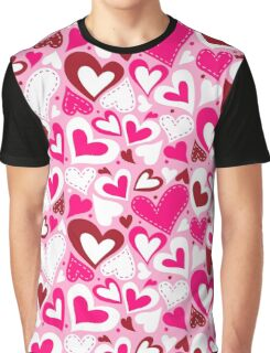 Hearts valentine day pattern Graphic T-Shirt