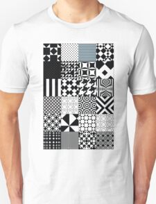 Black and White Abstract Patterns T-Shirt