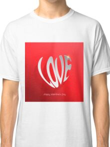 Love word modern background Classic T-Shirt