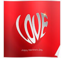 Love word modern background Poster