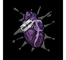 Goth Razor Heart Photographic Print