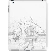Asian pagoda (B 'n W) iPad Case/Skin