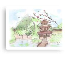 Asian pagoda (A) Canvas Print