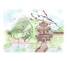 Asian pagoda (A) Photographic Print