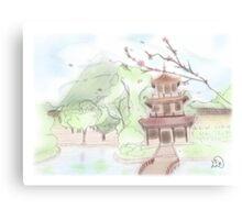 Asian pagoda (B) Canvas Print
