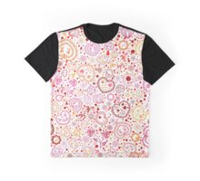 Ornamental pattern with hearts and flowers Graphic T-Shirt