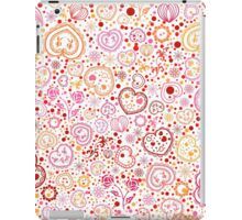 Ornamental pattern with hearts and flowers iPad Case/Skin