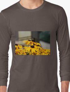 Bee on Rudbeckia Flowers Long Sleeve T-Shirt