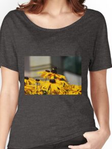 Bee on Rudbeckia Flowers Women's Relaxed Fit T-Shirt