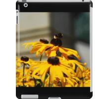 Bee on Rudbeckia Flowers iPad Case/Skin