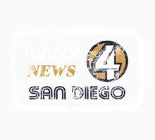 KVWN News 4 San Diego (Distressed) One Piece - Long Sleeve