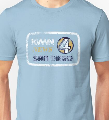 KVWN News 4 San Diego (Distressed) Unisex T-Shirt
