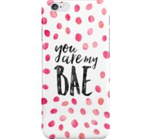 Modern typography BAE black pink watercolor iPhone Case/Skin