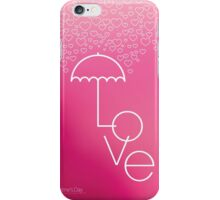 Valentines blurred background with umbrella iPhone Case/Skin
