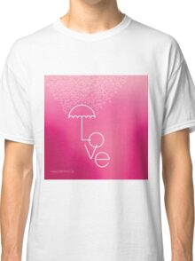 Valentines blurred background with umbrella Classic T-Shirt
