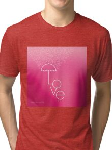 Valentines blurred background with umbrella Tri-blend T-Shirt