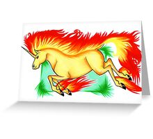 .:Rapidash:. Greeting Card
