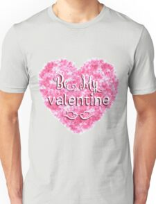 Valentines Day background with pink heart Unisex T-Shirt