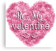 Valentines Day background with pink heart Canvas Print