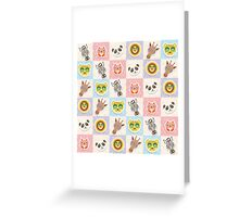 Set of funny animals  Greeting Card
