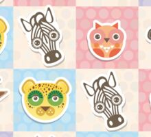 Set of funny animals  Sticker