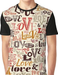 Vintage Love Background Graphic T-Shirt