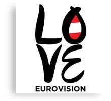 LOVE Eurovision [Austria] Canvas Print
