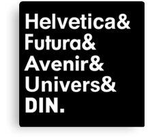 Sans-Serif Fonts Canvas Print