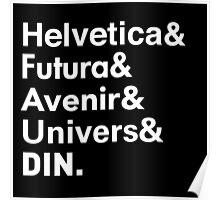 Sans-Serif Fonts Poster