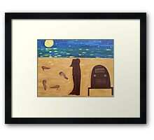 DANCING BAREFOOT ON THE SAND Framed Print