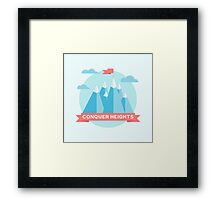 Conquer heights Framed Print
