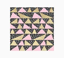 Black White Triangle Pink Gold Geometric Triangles Classic T-Shirt