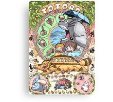 Totoro Miyazaki Canvas Print