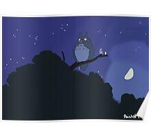 Totoro tree scene Poster